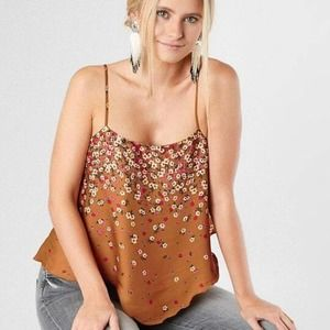 Free People Floral Let Me Love You Tank Blouse